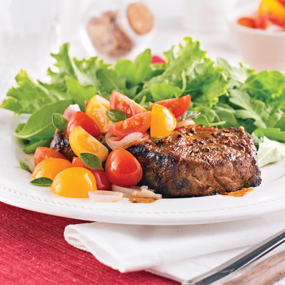 Contre filet de boeuf salsa de tomates confites recettes cuisine et nutrition pratico - Cuisson filet de boeuf au four chaleur tournante ...