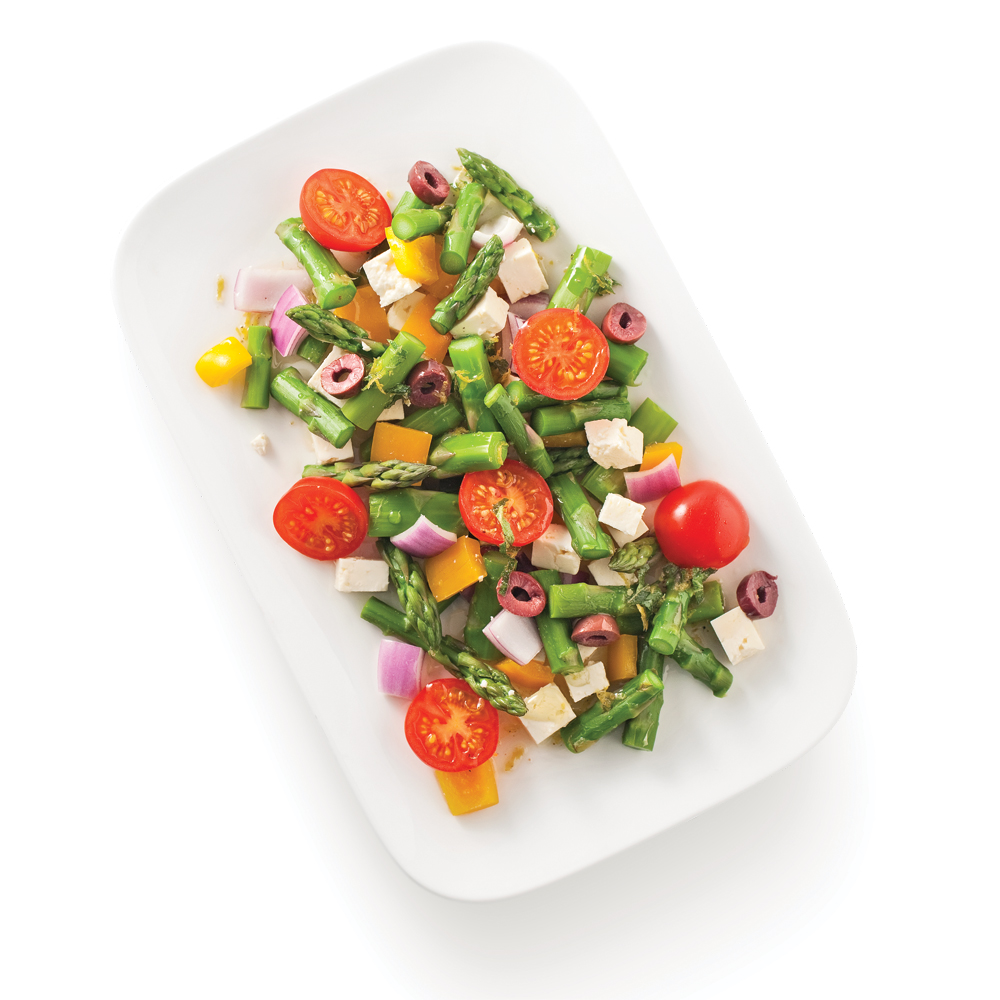 Chaise Cuisine Framboise : Asperges en salade à la grecque  Recettes  Cuisine et nutrition