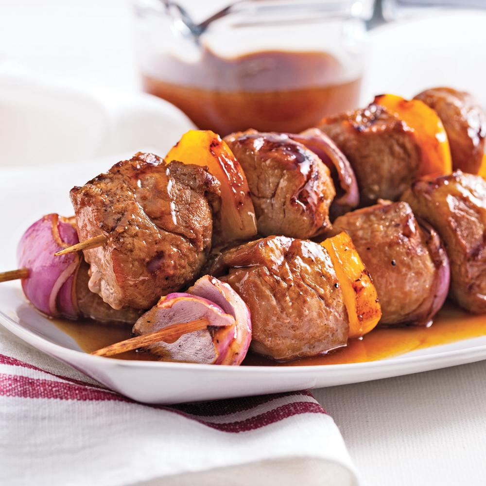 brochettes de porc sauce sucr e recettes cuisine et