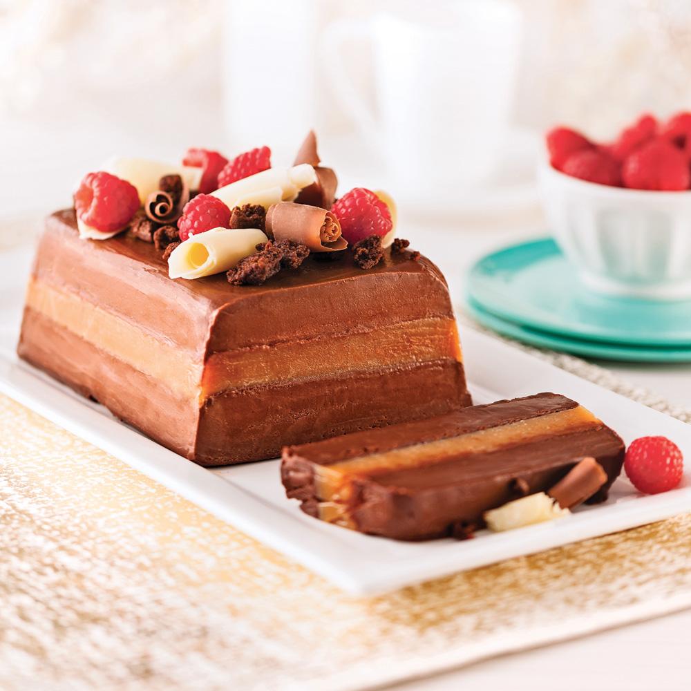 B che glac e la mousse de chocolat caramel et fleur de for Buche a la mousse au chocolat