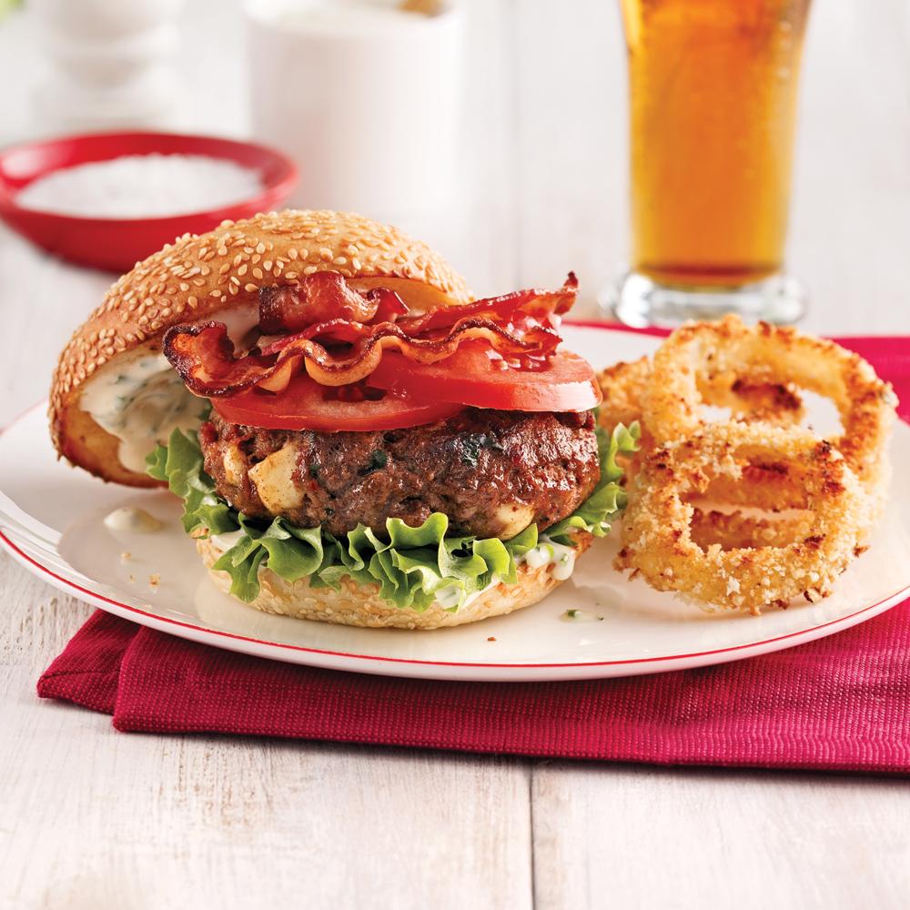 Burger de boeuf gourmand recettes cuisine et nutrition - Plat cuisine a congeler ...