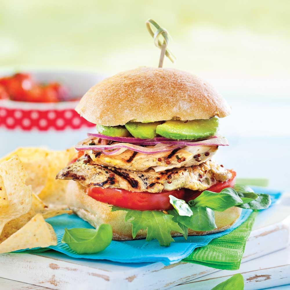 Burgers de poulet minc recettes cuisine et nutrition for Cuisine pratique