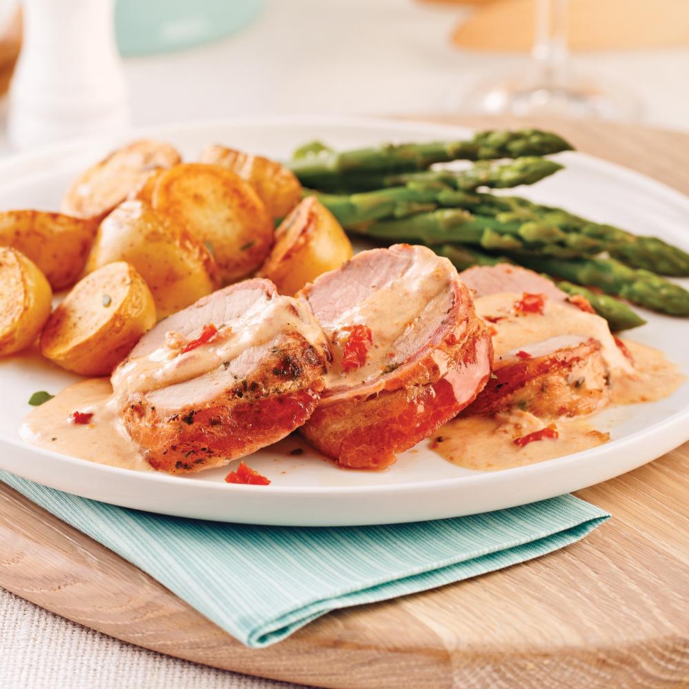 Filet de porc bard de bacon caram lis l 39 rable - Cuisiner rognons de porc ...