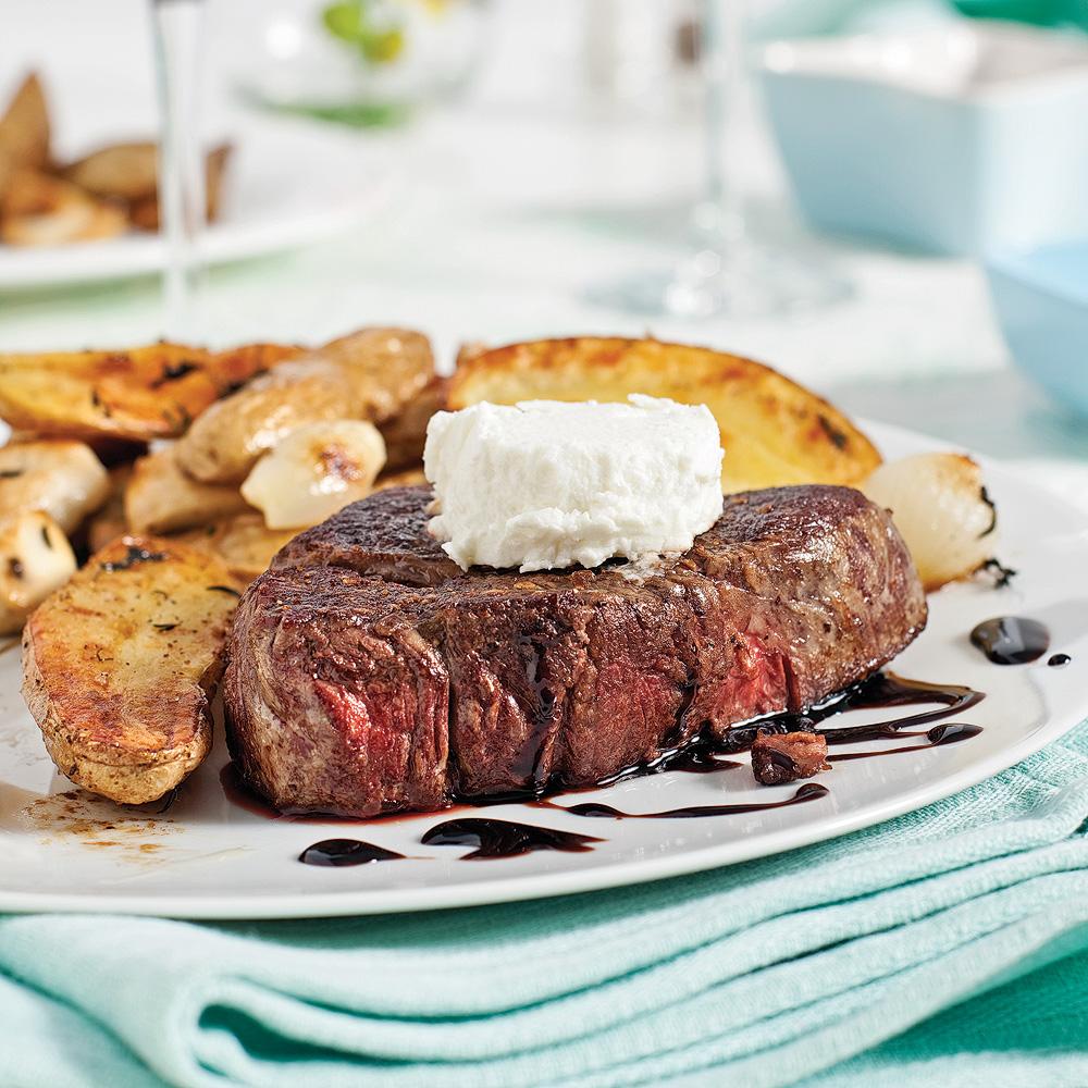 Filets mignons sauce rable balsamique et fromage de ch vre recettes cuisine et nutrition - Cuisson filet de boeuf au four chaleur tournante ...