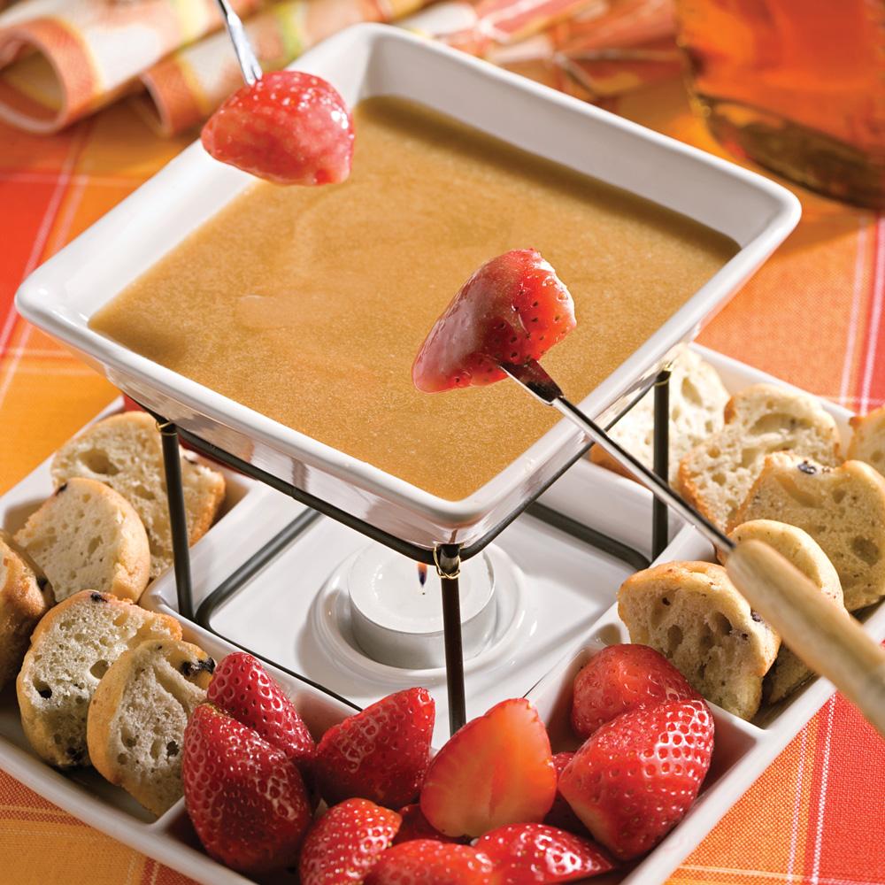 fondue l 39 rable recettes cuisine et nutrition pratico pratique. Black Bedroom Furniture Sets. Home Design Ideas