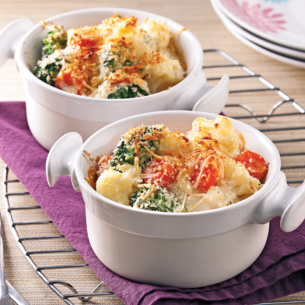 Gratin de l gumes sauce b chamel au tofu soyeux recettes cuisine et nutrition pratico - Recette de cuisine simple avec des legumes ...