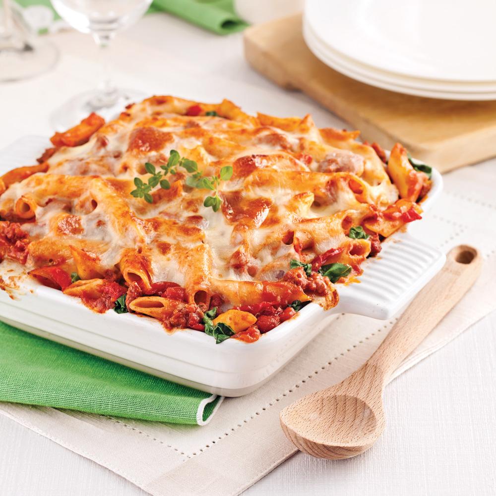 Gratin de p tes sauce italienne aux tomates s ch es recettes cuisine et nutrition pratico - Cuisiner les tomates sechees ...