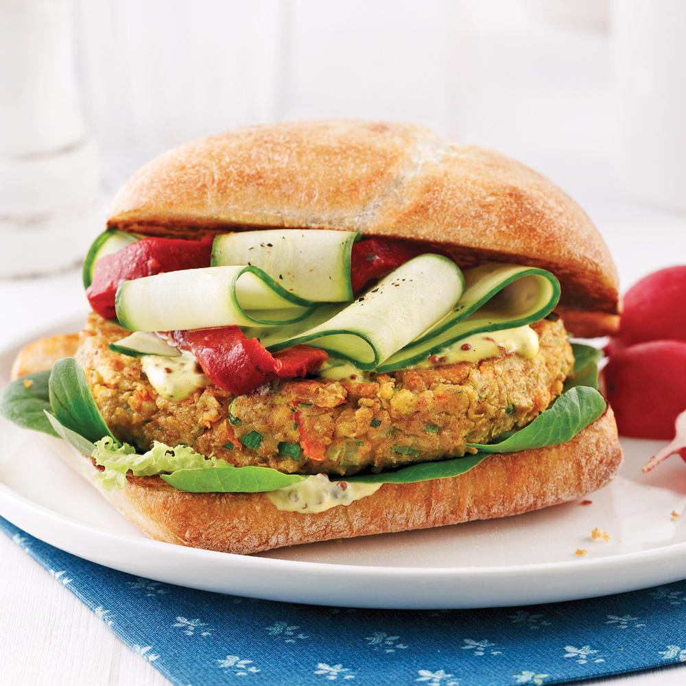 Chaise Cuisine Noyer : Hamburger végétarien aux haricots blancs  Recettes  Cuisine et