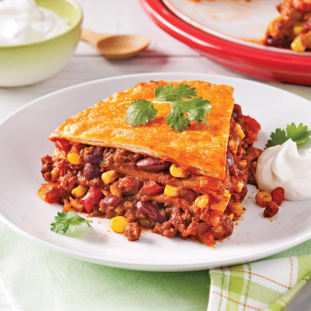 Lasagne mexicaine v g tarienne recettes cuisine et for Cuisine mexicaine