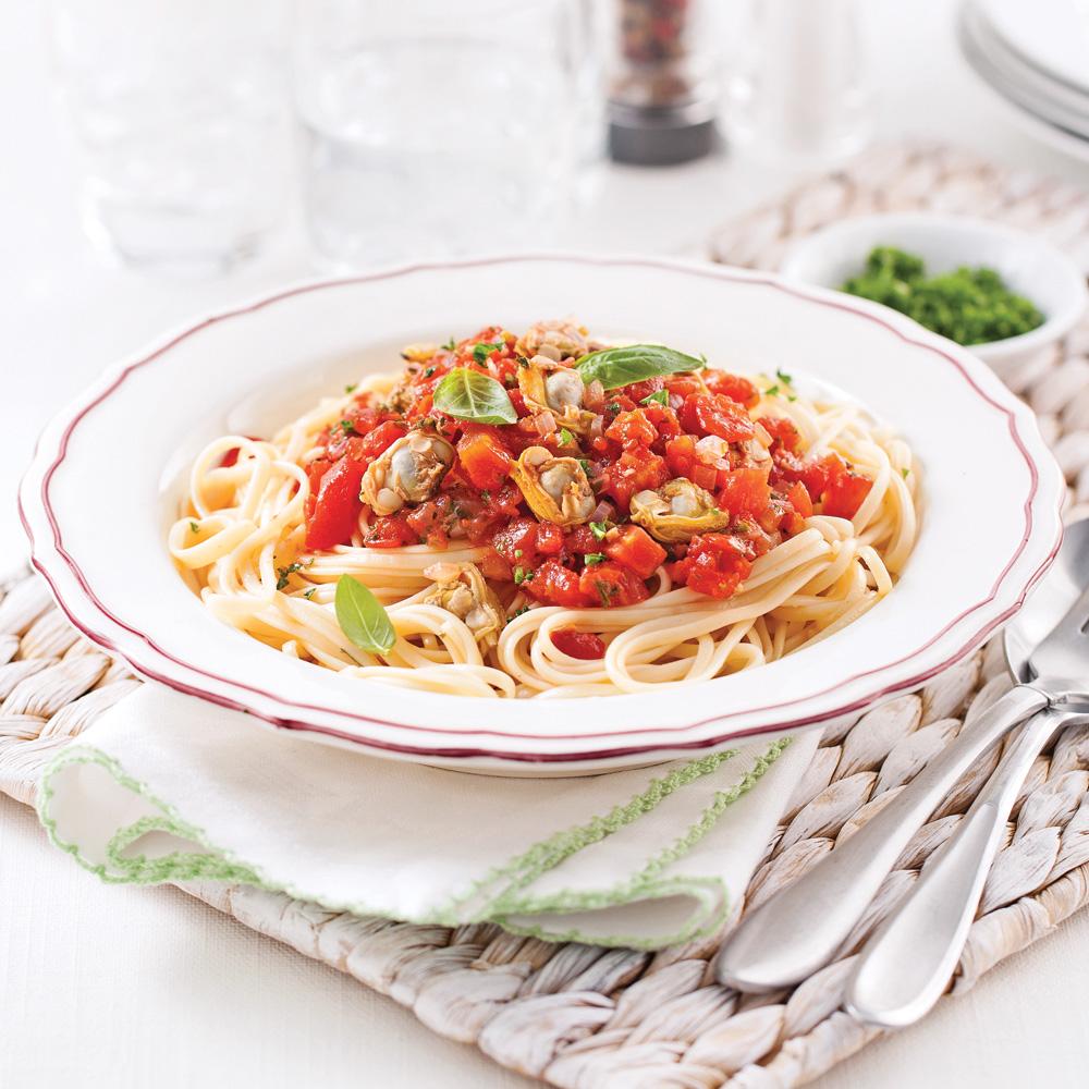 Linguines express aux palourdes recettes cuisine et for Cuisiner des palourdes