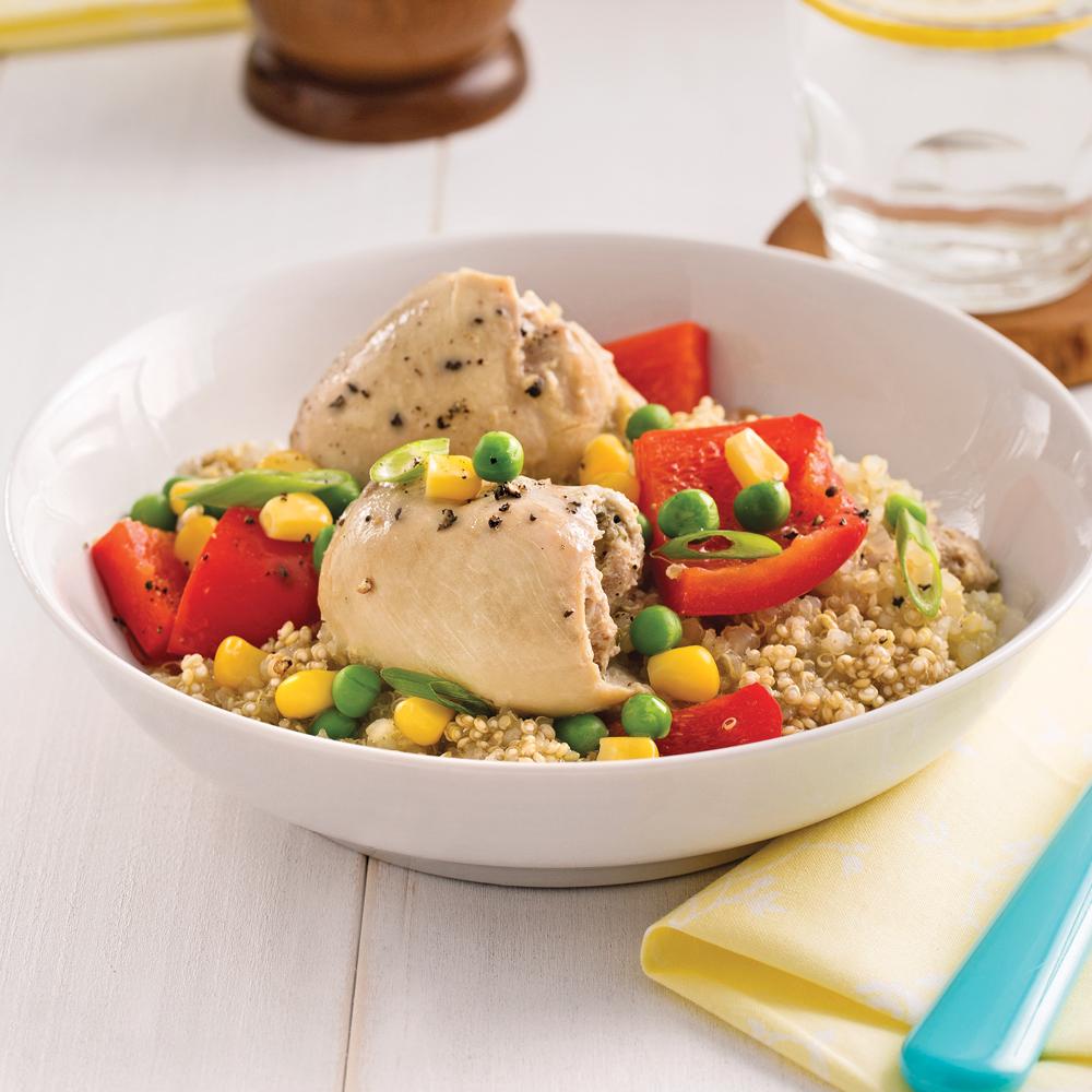 Mijot de quinoa au poulet et aux l gumes recettes for Cuisine quinoa