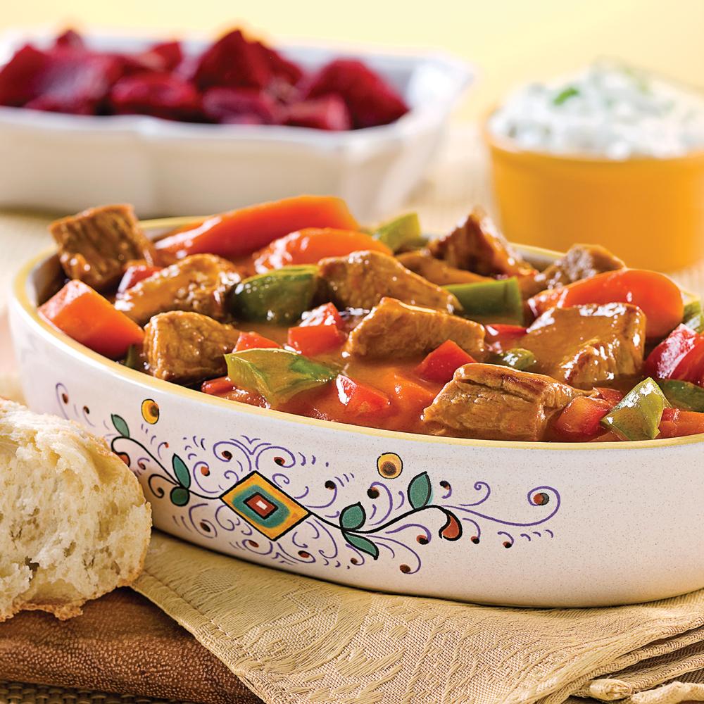 Mijot de veau la hongroise recettes cuisine et for Cuisine hongroise