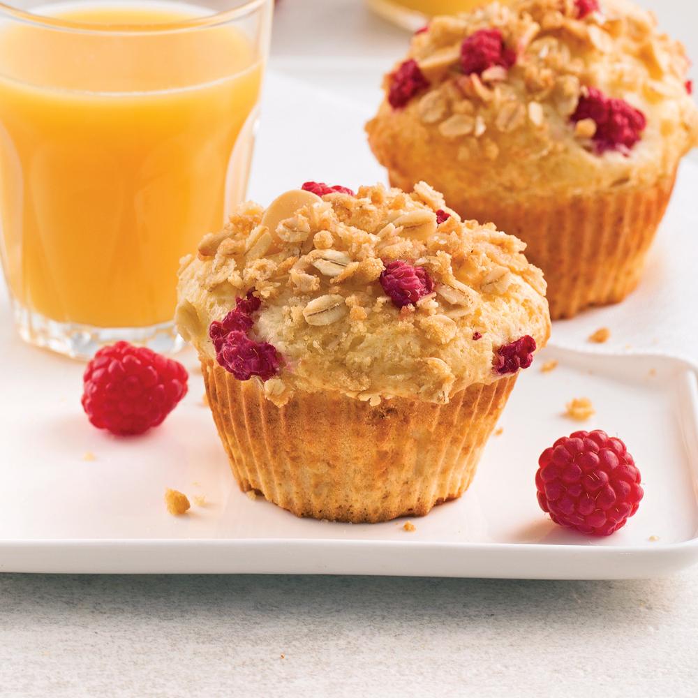 Muffins aux framboises et yogourt   recettes   cuisine et ...