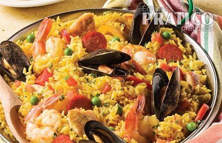 Pa lla au four recettes cuisine et nutrition pratico pratique - Recette de la paella espagnole ...