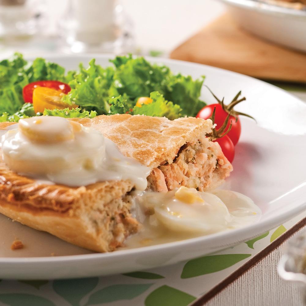 p 226 t 233 au saumon et sauce aux oeufs recettes cuisine et nutrition pratico pratique