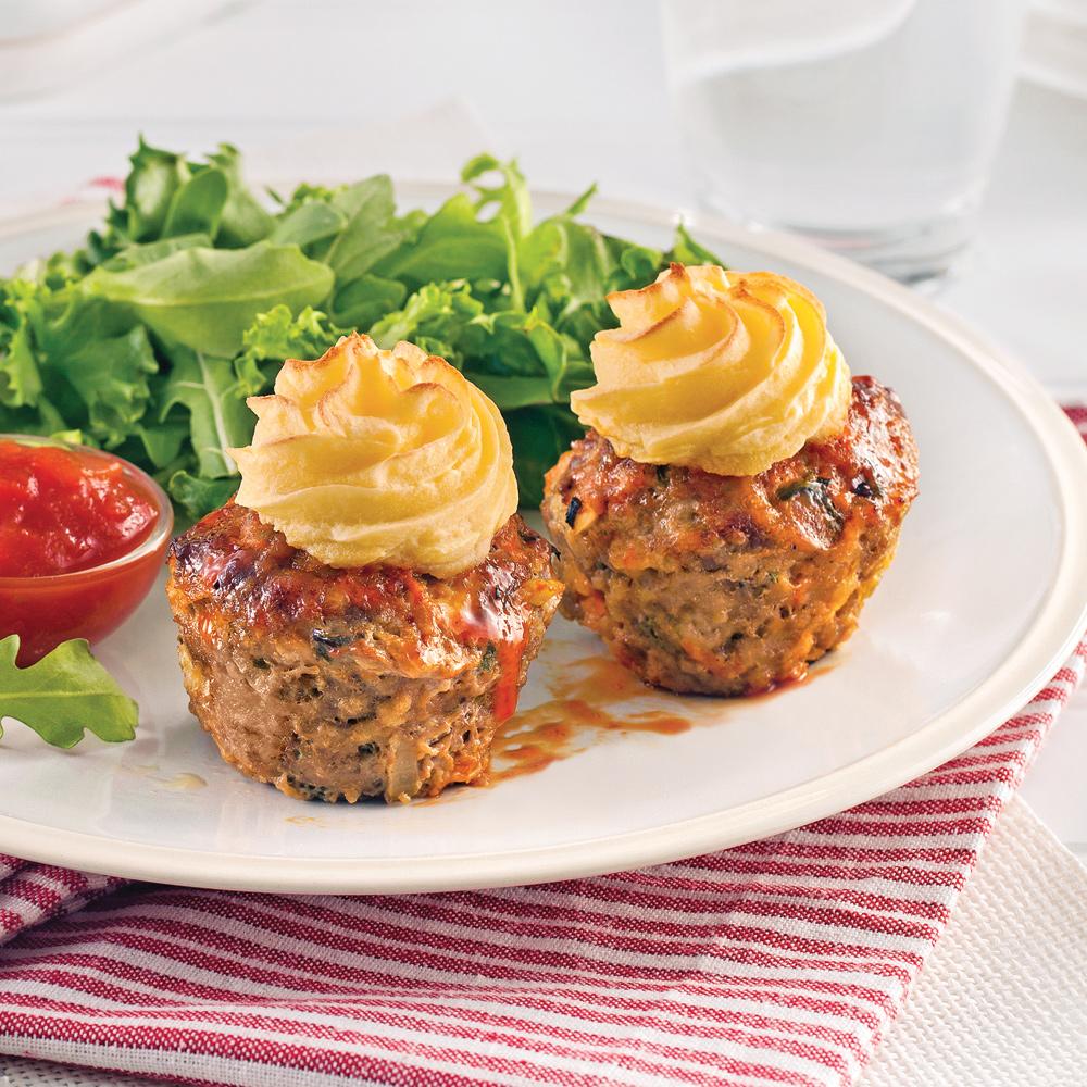 Petits pains de viande style cupcake recettes cuisine for Cuisine pratique