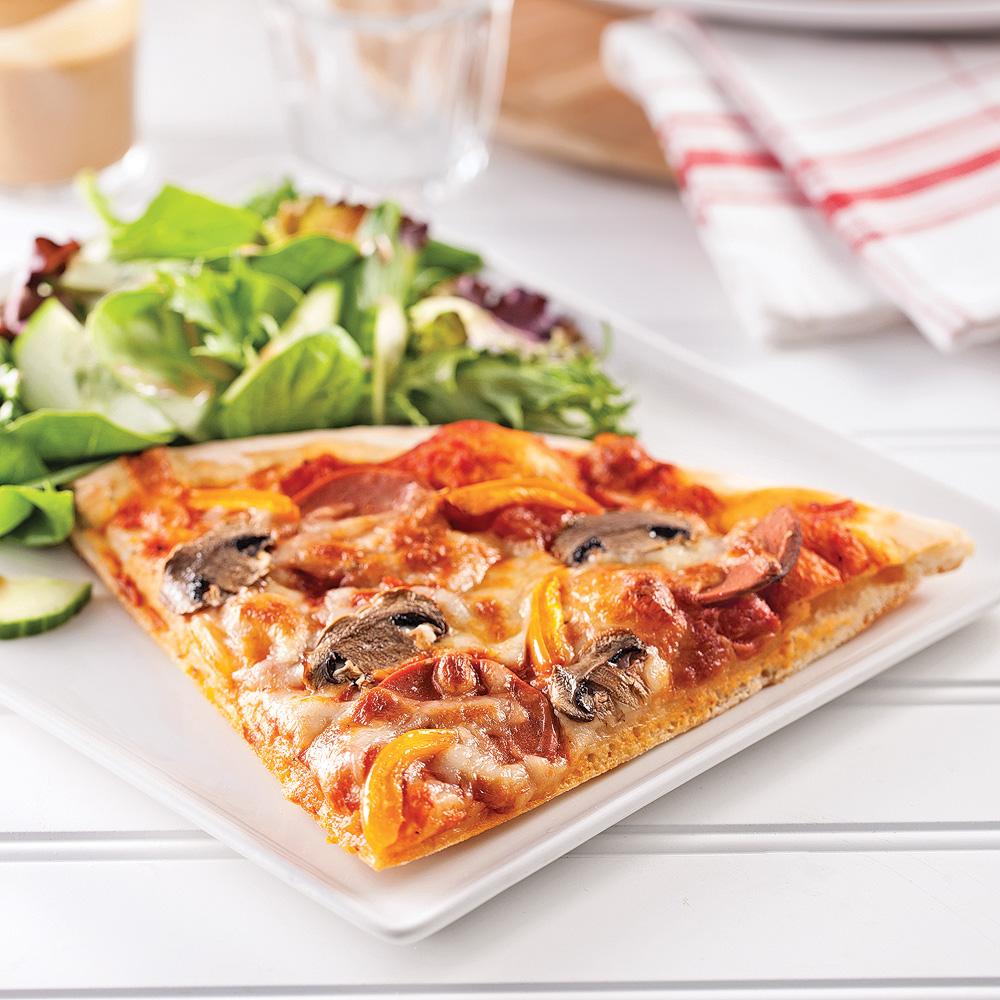 Pizza minceur toute garnie recettes cuisine et - Cuisine de a a z minceur ...
