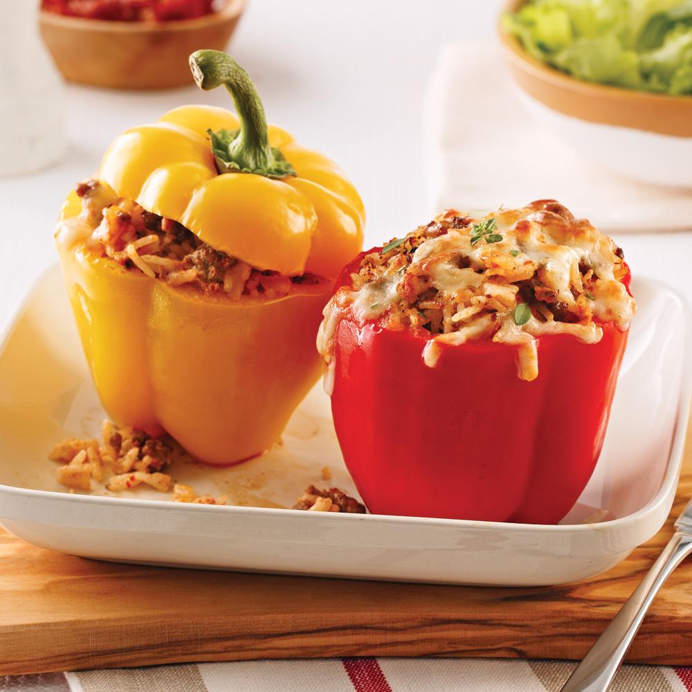 Poivrons farcis au boeuf yogourt et tomates s ch es - Cuisiner les poivrons ...