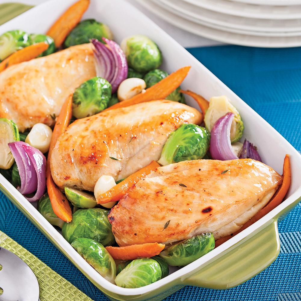 poulet l 39 rable et l gumes grill s recettes cuisine et nutrition pratico pratique. Black Bedroom Furniture Sets. Home Design Ideas