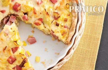 Quiche au jambon et poireaux recettes cuisine et for Decoration quiche
