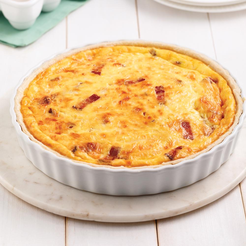 Quiche lorraine au bacon recettes cuisine et nutrition for Cuisine quiche lorraine