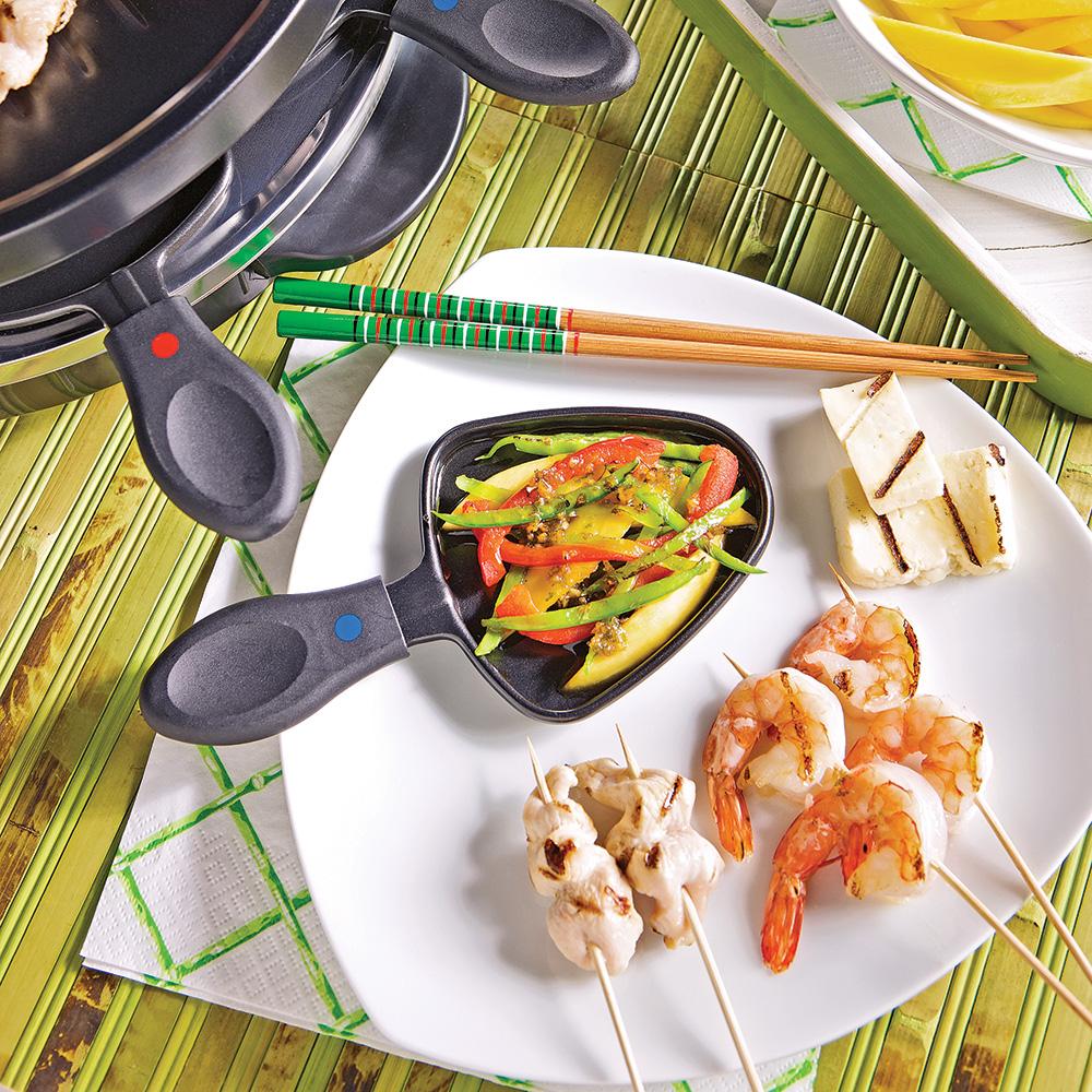 Raclette asiatique recettes cuisine et nutrition - Raclette a la poele ...