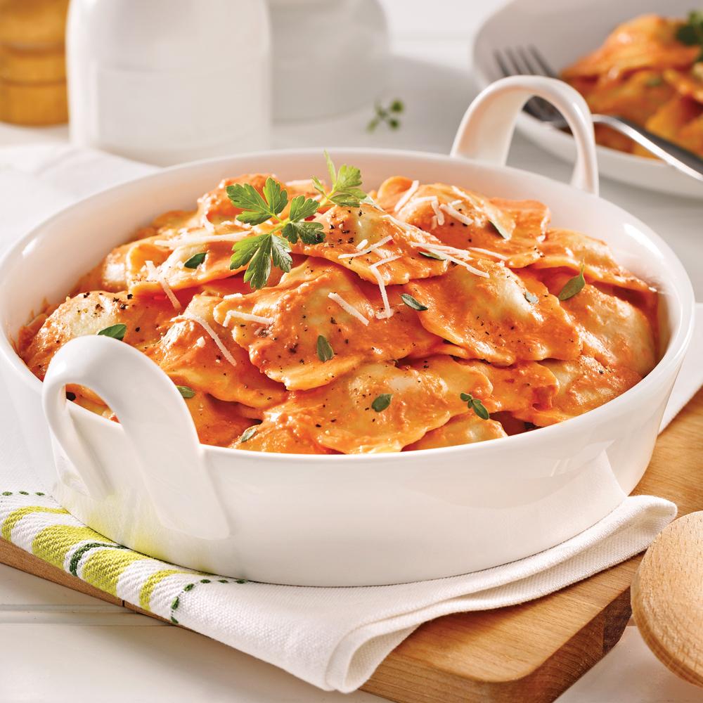 Raviolis au veau sauce cr meuse aux tomates s ch es for Sauce tomate cuisinee