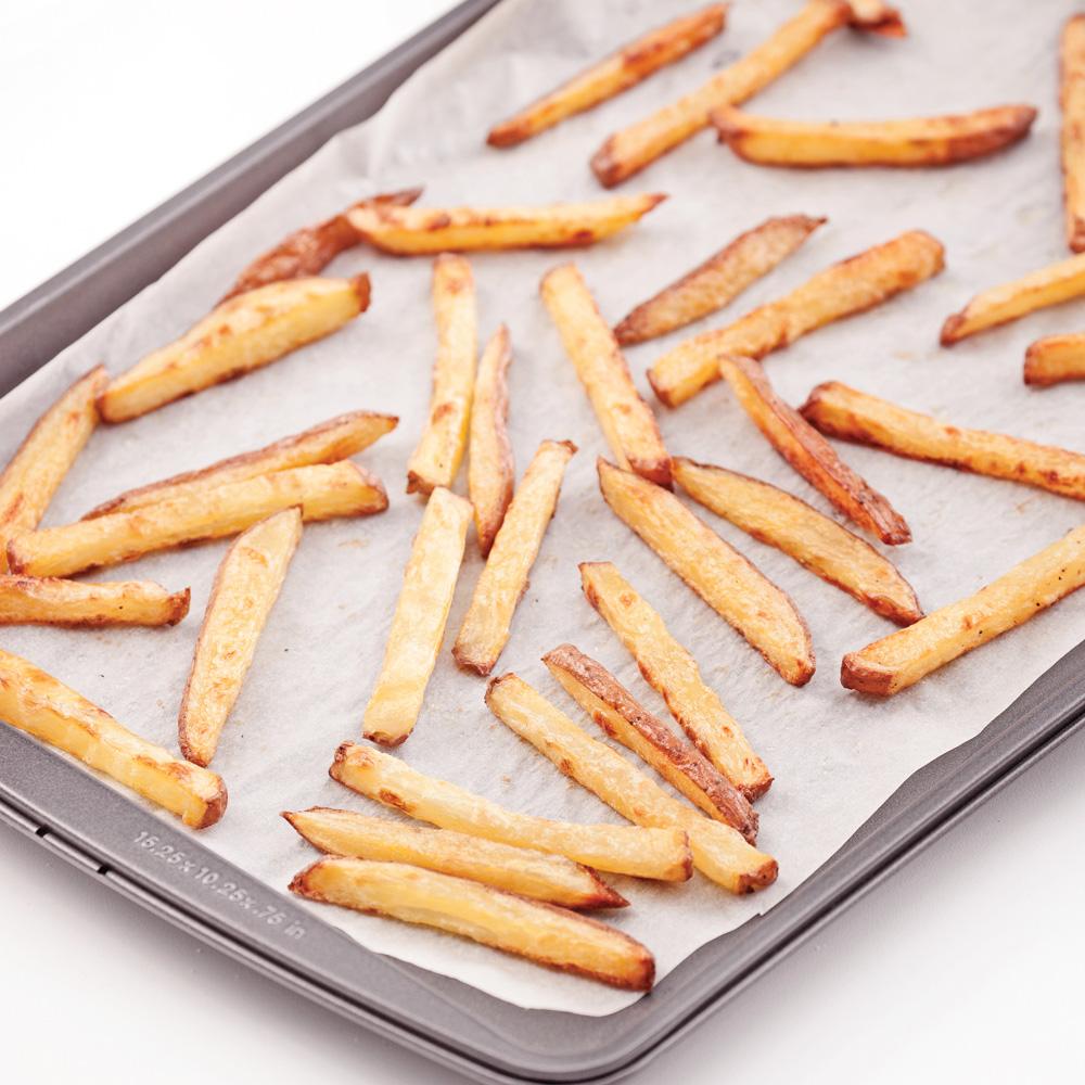 En tapes r ussir des frites croustillantes sans friture for Papier parchemin cuisine
