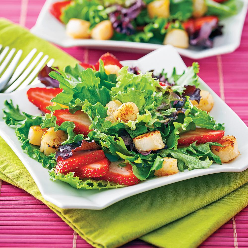 salade de p toncles et fraises recettes cuisine et. Black Bedroom Furniture Sets. Home Design Ideas