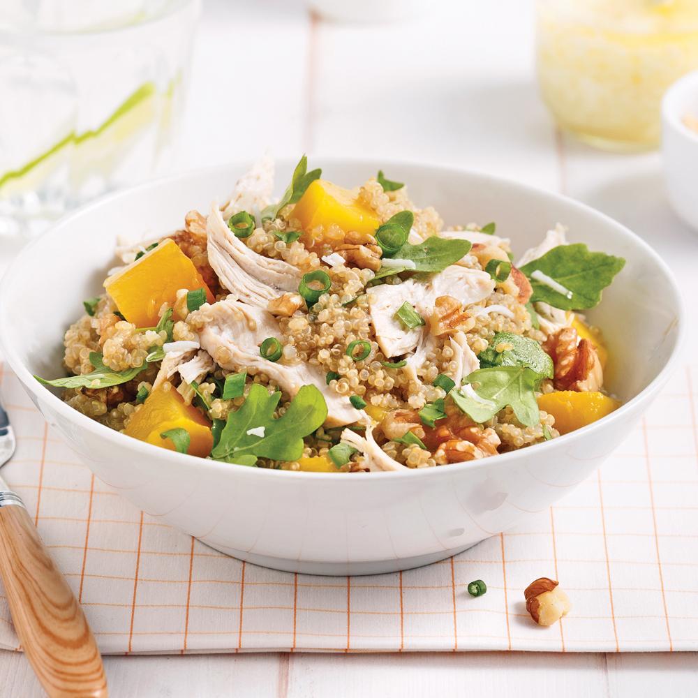 Salade de quinoa au poulet et la mangue recettes for Cuisine quinoa