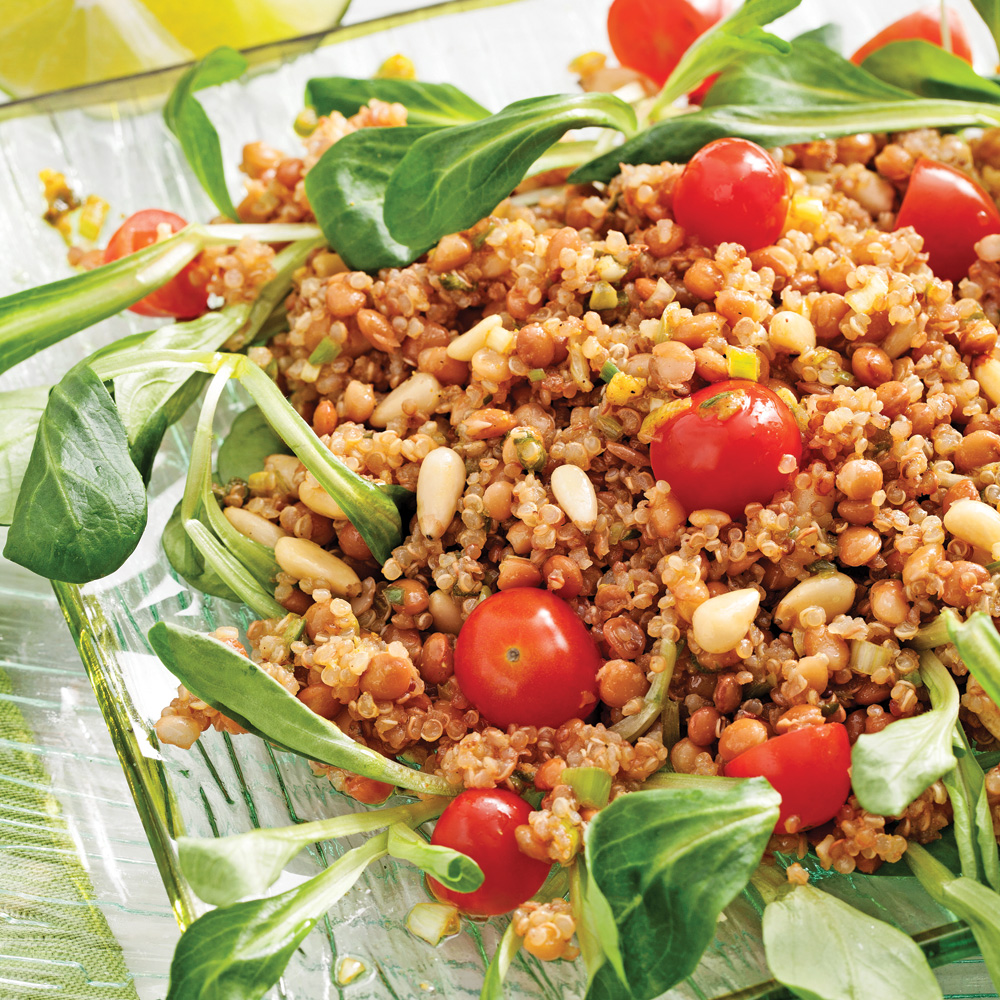 Salade de quinoa r ti l 39 indienne recettes cuisine et for Cuisine quinoa