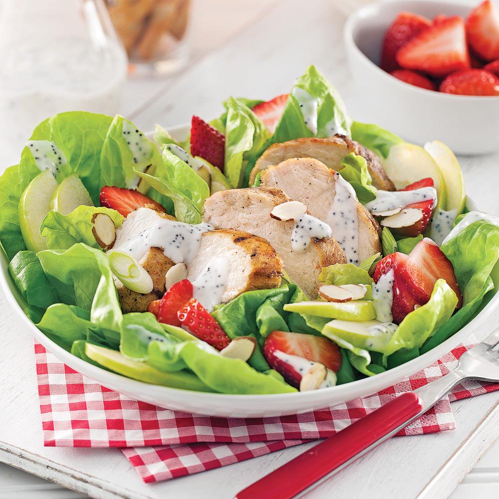 Salade estivale au poulet grill recettes cuisine et - Recette salade cesar au poulet grille ...
