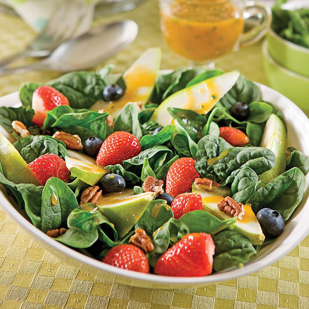 Salade fra cheur pinards et poires recettes cuisine for Fraise pour perceuse dijon