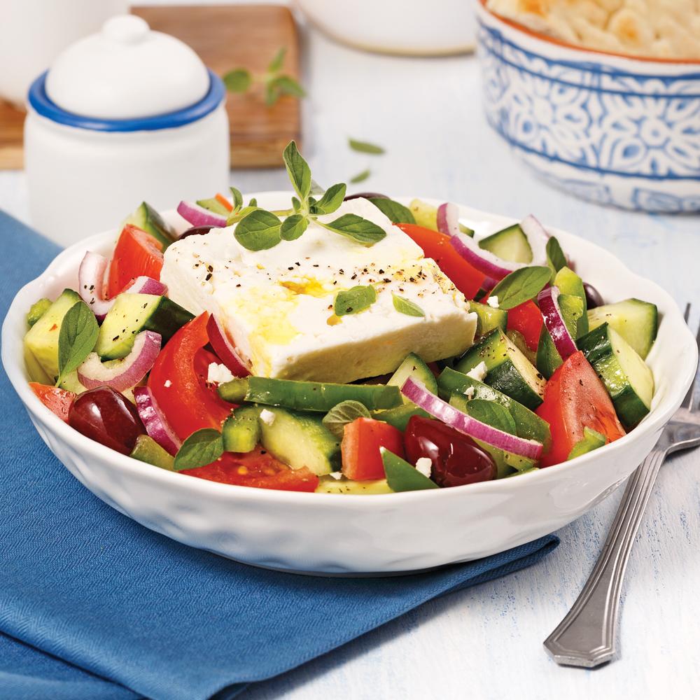Salade grecque recettes cuisine et nutrition pratico for Cuisine grecque