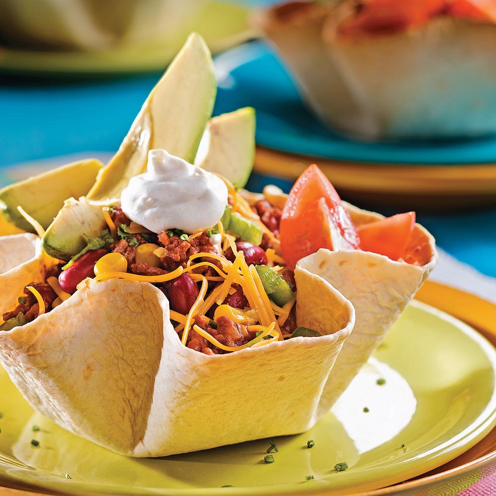 Salade mexicaine en fleurs de tortillas recettes - Cuisine mexicaine tortillas ...