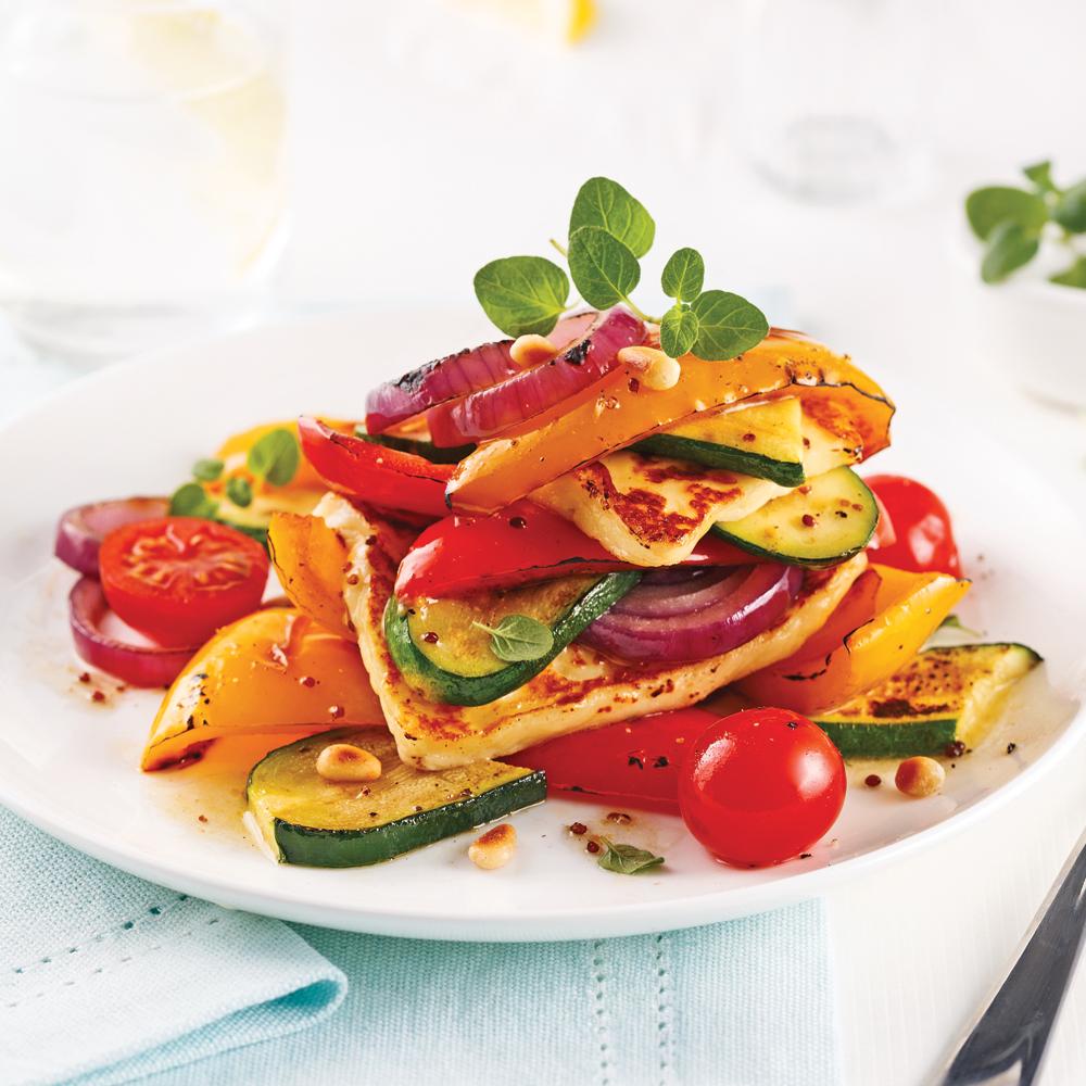 Salade repas de l gumes et fromage grill s recettes for Repas de cuisine