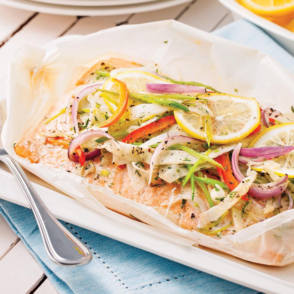 Saumon au beurre citronn en papillote recettes cuisine et nutrition pratico pratique - Saumon en papillote ...
