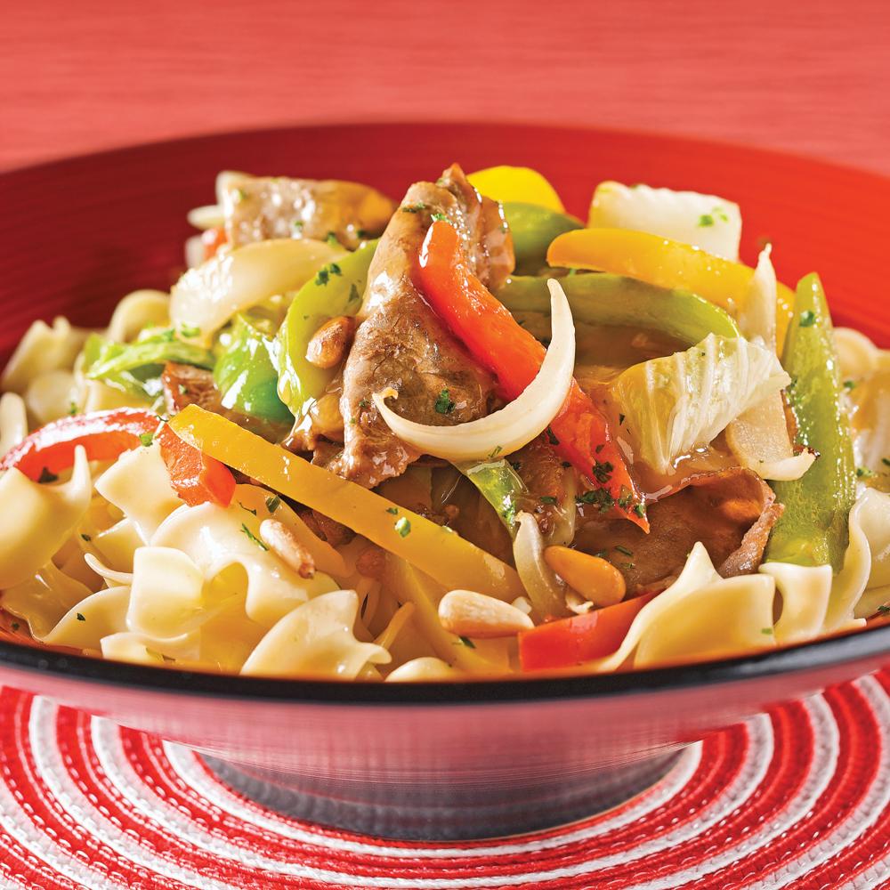 Saut de boeuf aux poivrons et chou chinois recettes - Cuisiner le chou chinois cuit ...