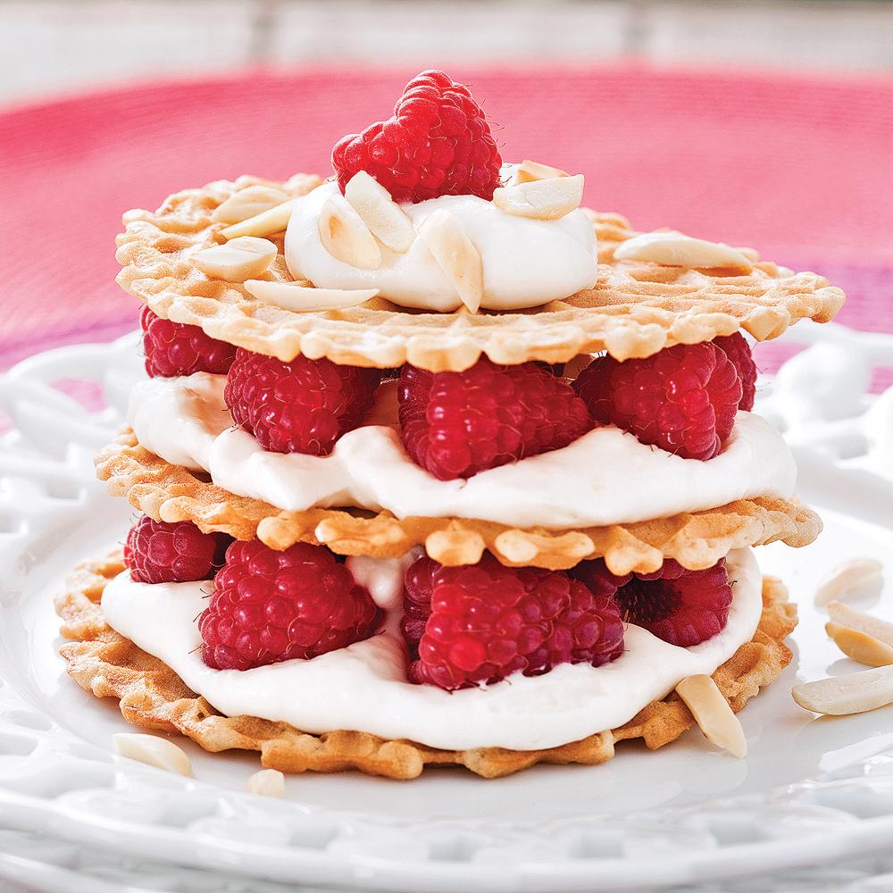 Shortcakes croustillants aux framboises et crème d'érable ...