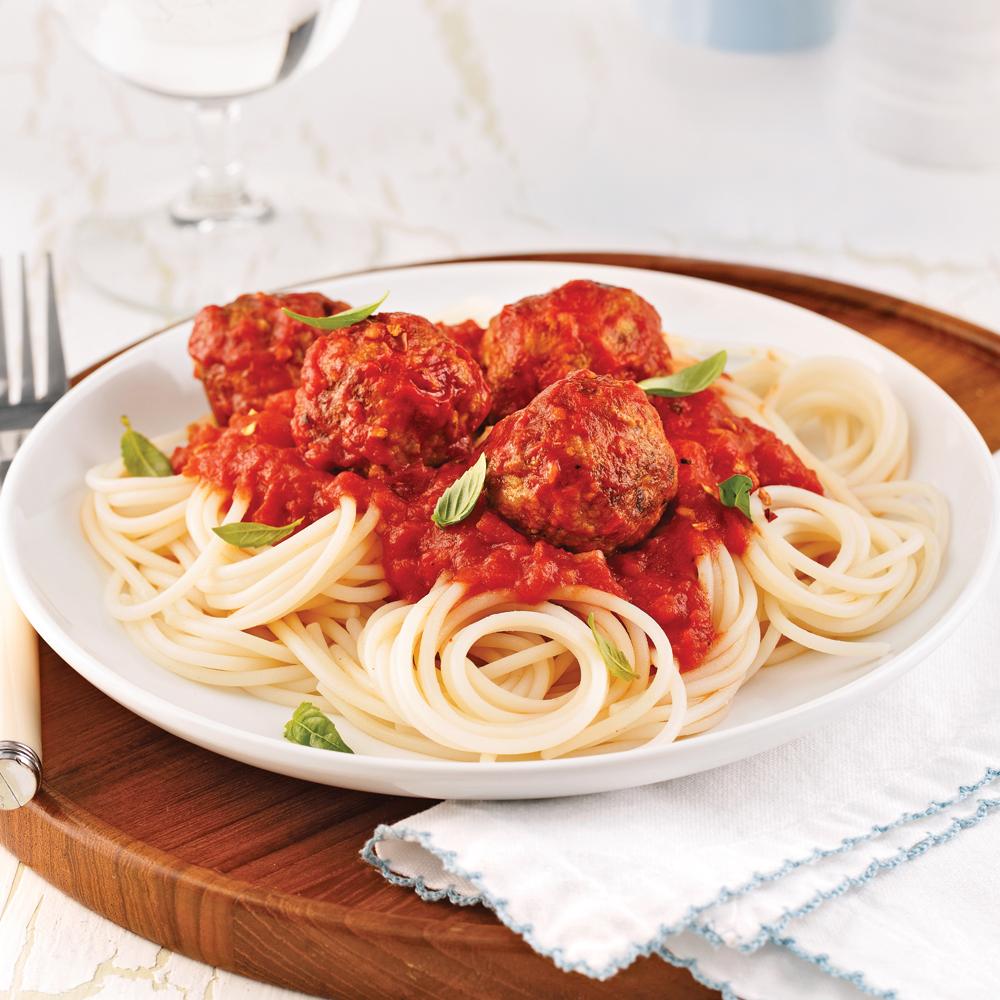 Spaghettis de quinoa sauce aux boulettes de dindon for Cuisine quinoa