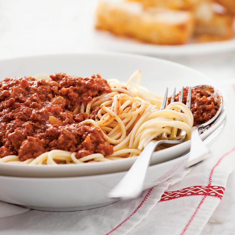 Spaghettis sauce bolognaise della mamma la mijoteuse - Cuisine a la mijoteuse ...