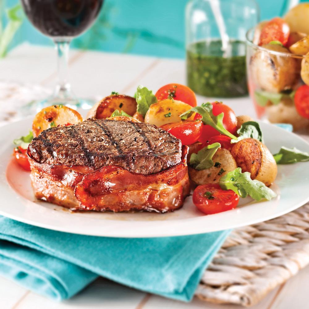 Tournedos au vin rouge et salade ti de de pommes de terre for Vin rouge cuisine