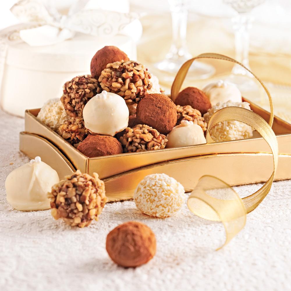 duo de truffes au chocolat recettes cuisine et. Black Bedroom Furniture Sets. Home Design Ideas