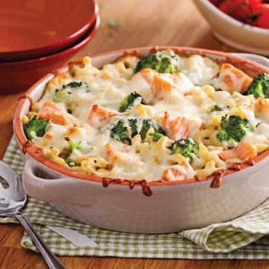 Gratin de macaronis au saumon et brocoli recettes for Cuisine pratique