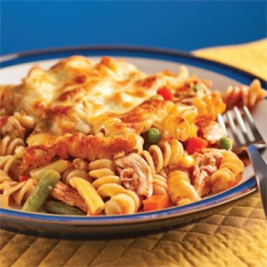 Gratin de p tes et poulet la salsa soupers de semaine recettes 5 15 recettes express 5 - Gratin de pates poulet ...