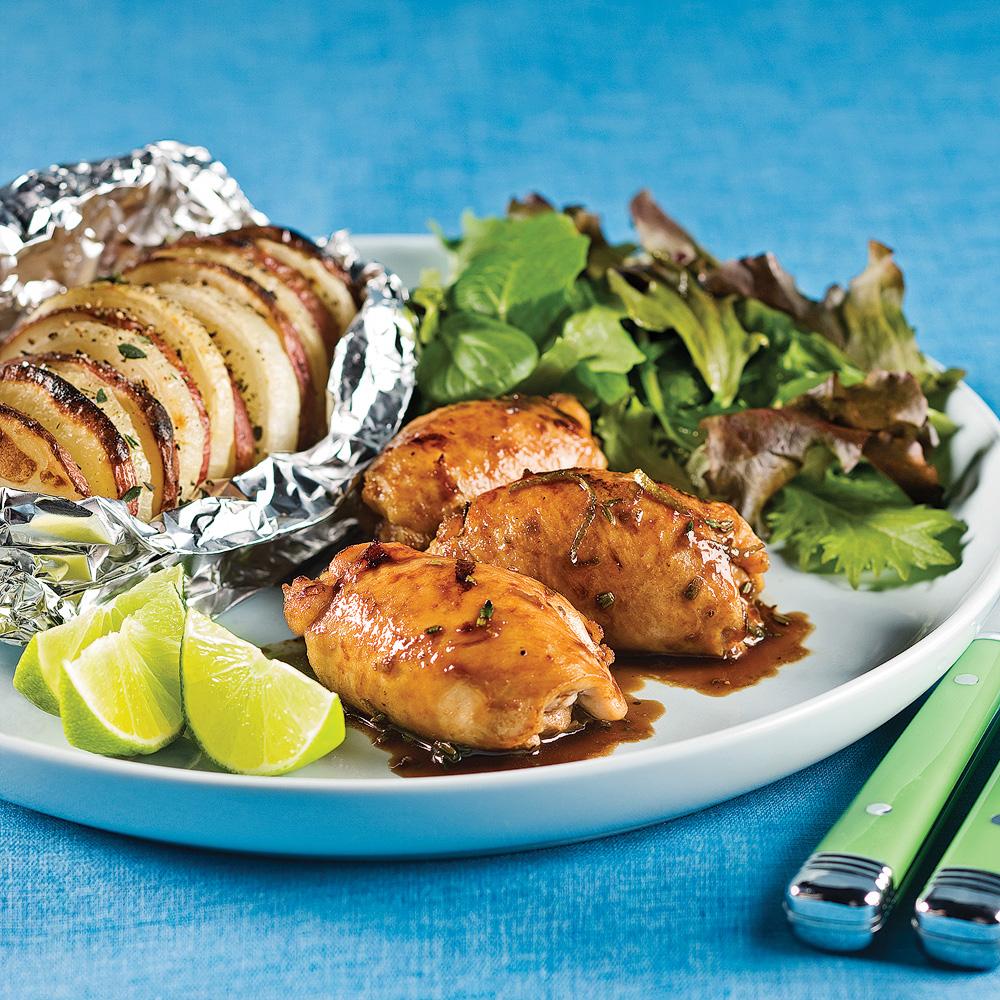 Hauts de cuisses miel et lime soupers de semaine recettes 5 15 recettes express 5 15 - Cuisiner des cuisses de poulet ...