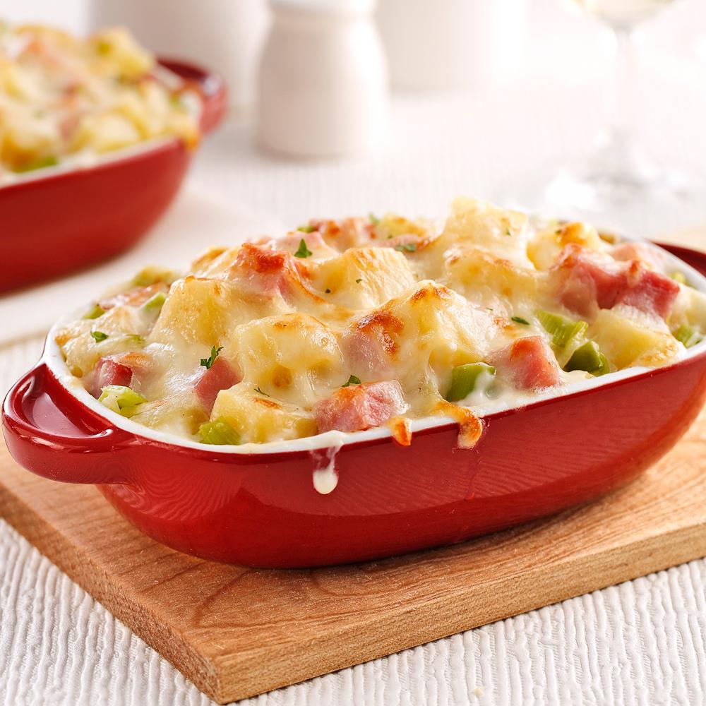 Gratin de jambon poireaux et fromage suisse soupers de semaine recettes 5 15 recettes - Gratin de pomme de terre jambon ...