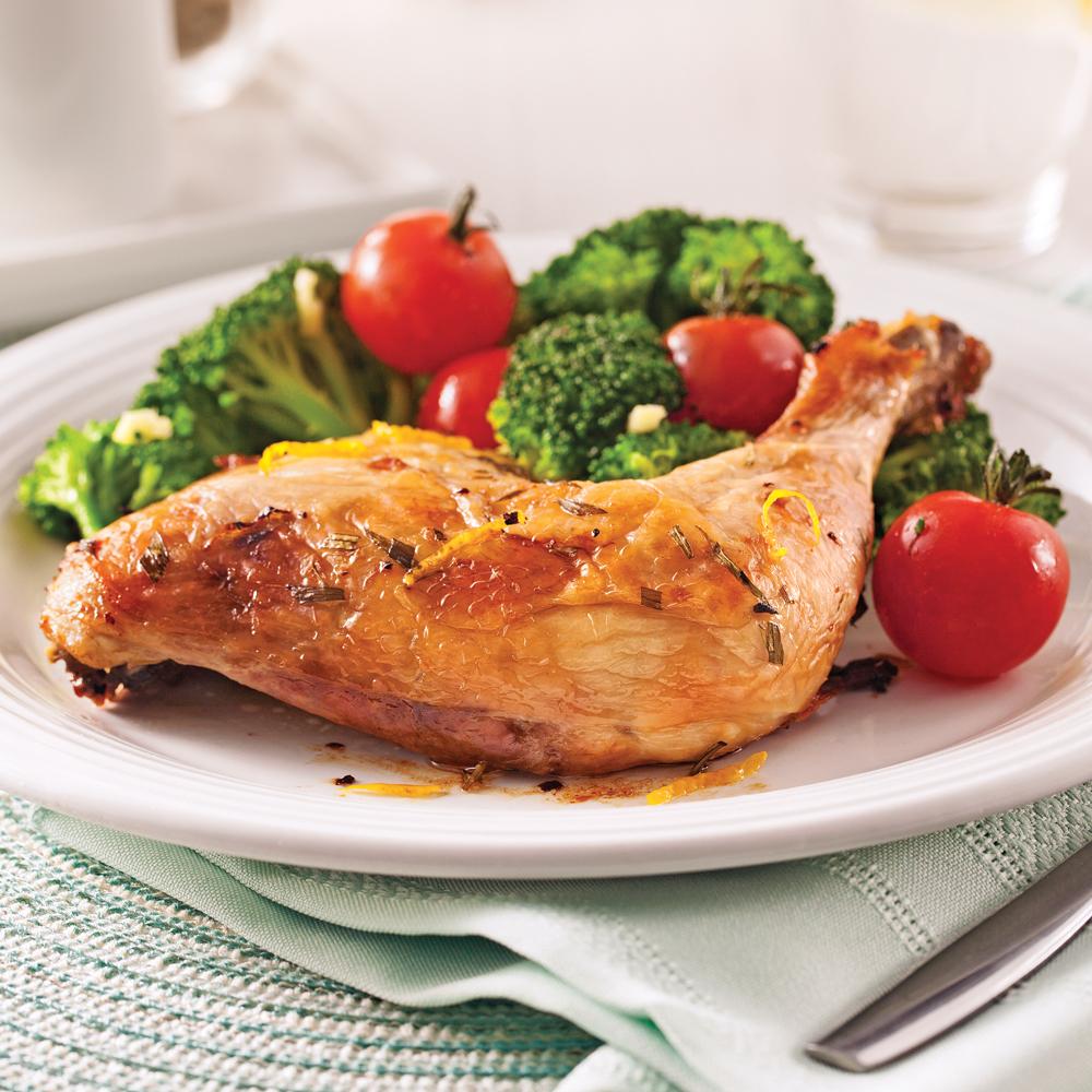 Cuisses de poulet l 39 estragon et citron soupers de semaine recettes 5 15 recettes express - Idee recette cuisse de poulet ...