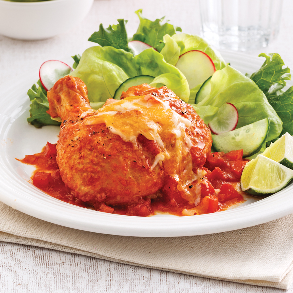 Cuisses de poulet la salsa soupers de semaine - Cuisse de poulet calories ...