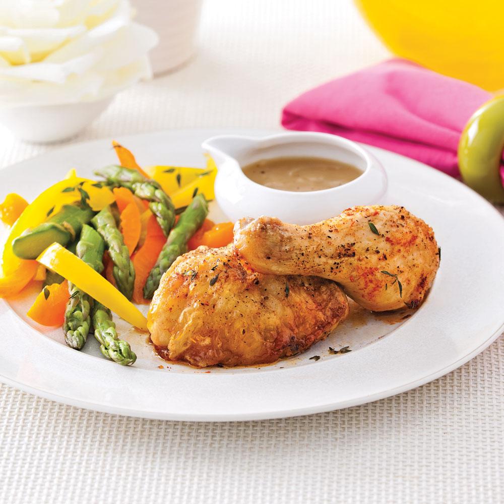 Cuisses de poulet r ties simplissimes soupers de semaine - Cuisse de poulet calories ...
